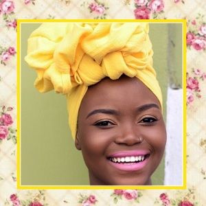  New sunshine yellow head wrap turban scarf cap